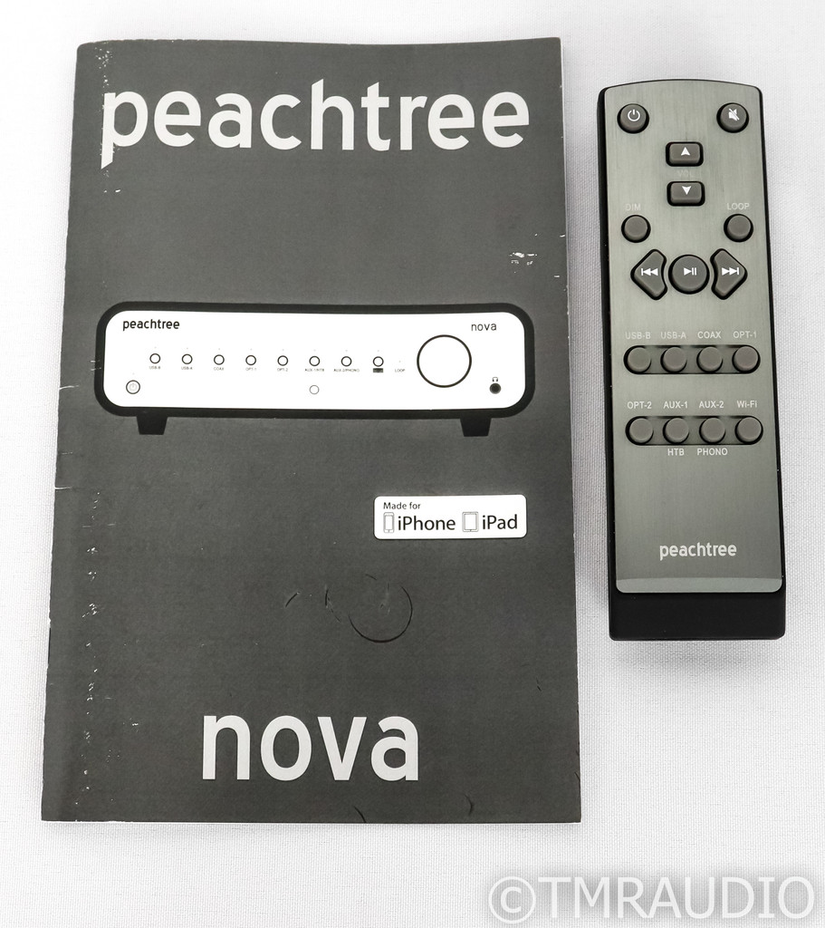 Peachtree Nova500 Stereo Integrated Amplifier; Ebony Mocha; MM Phono; Remote