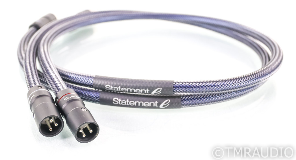 Audio Art Cable Statement e IC XLR Cables; 1m Pair Balanced Interconnects