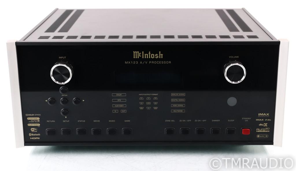 McIntosh MX123 13.2 Channel Home Theater Processor; Remote; MM Phono