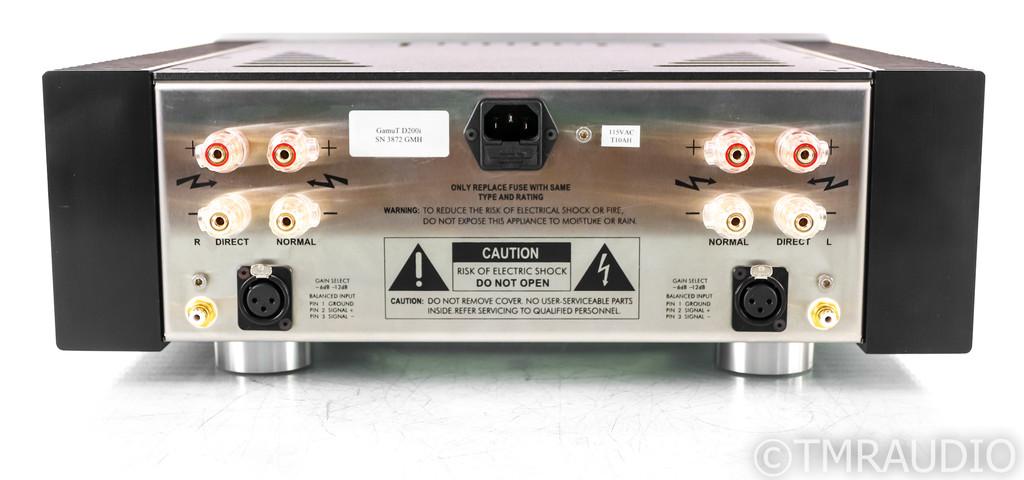 Gamut Audio D200i Stereo Power Amplifier; D-200i
