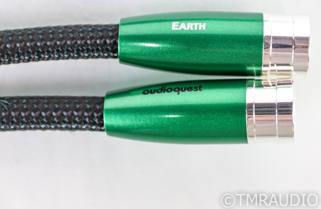 AudioQuest Earth XLR Cables; 1m Pair Interconnects; 72v DBS (Open Box)