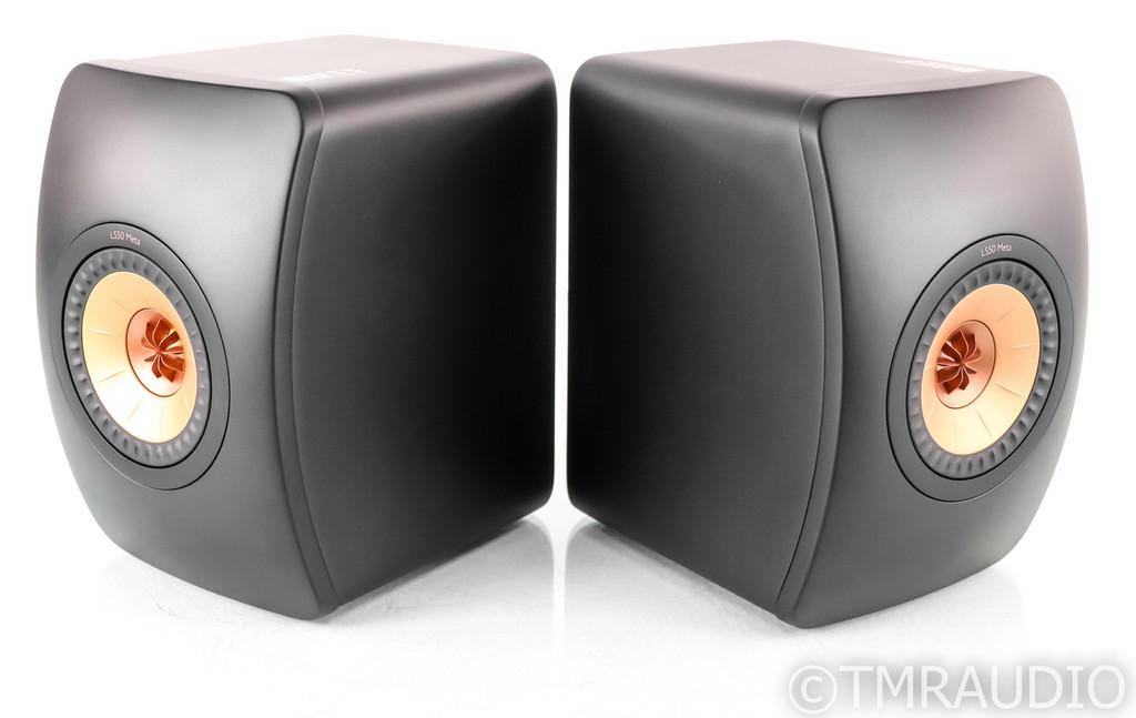 KEF LS50 Meta Bookshelf Speakers; Black Pair; LS-50