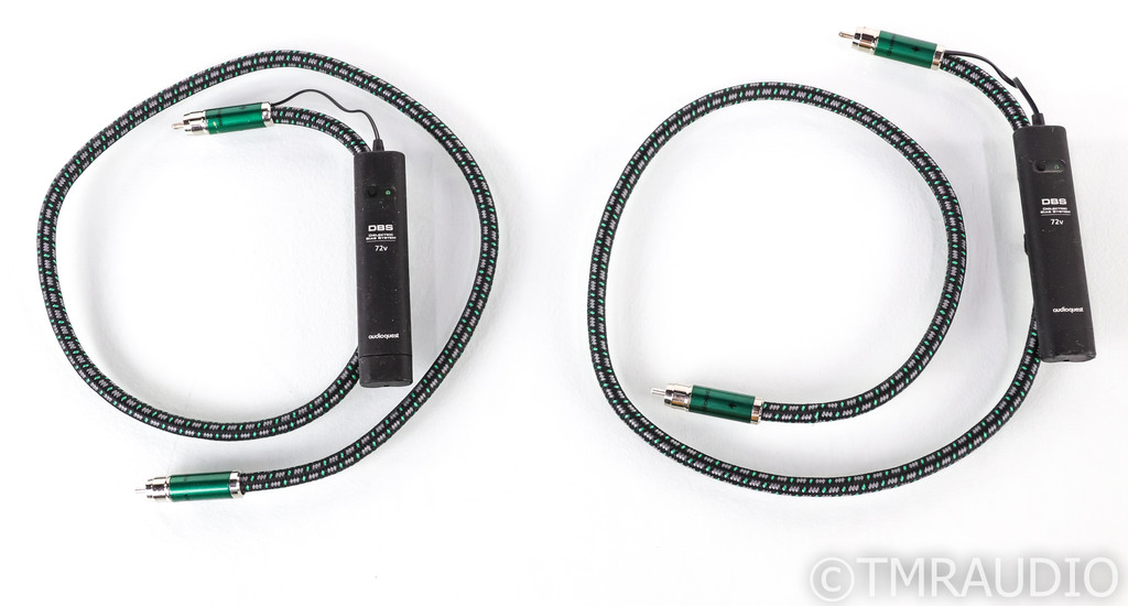 AudioQuest Columbia RCA Cables; 1m Pair Interconnects; 72v DBS