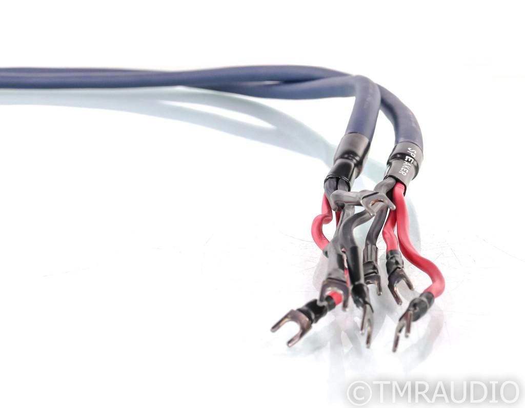 AudioQuest Midnight 3 Hyperlitz Bi-wire Speaker Cables; 8ft Pair