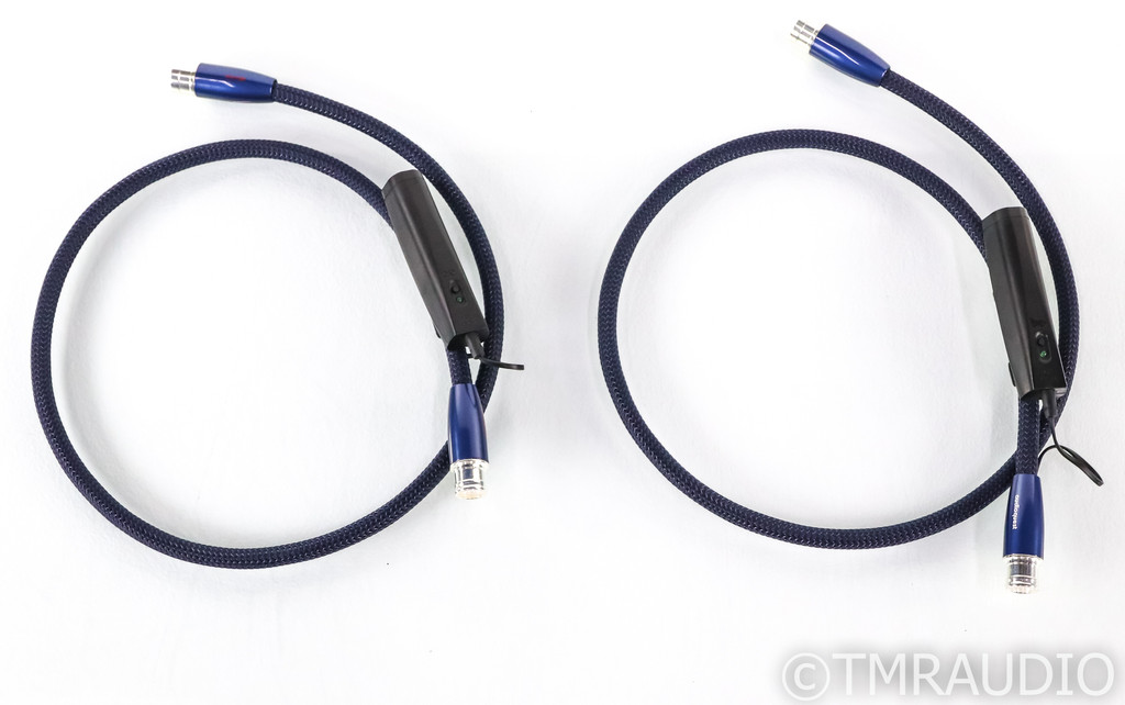 AudioQuest Water XLR Cables; 1m Pair Balanced Interconnects; 72v DBS