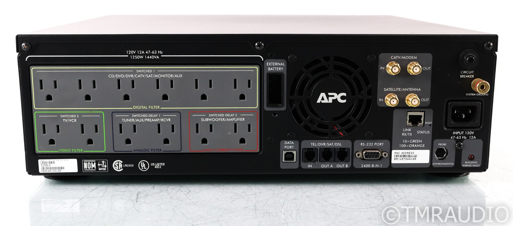 APC S20 AC Power Line Conditioner w/ Battery Backup; UPS; Black; New Battery