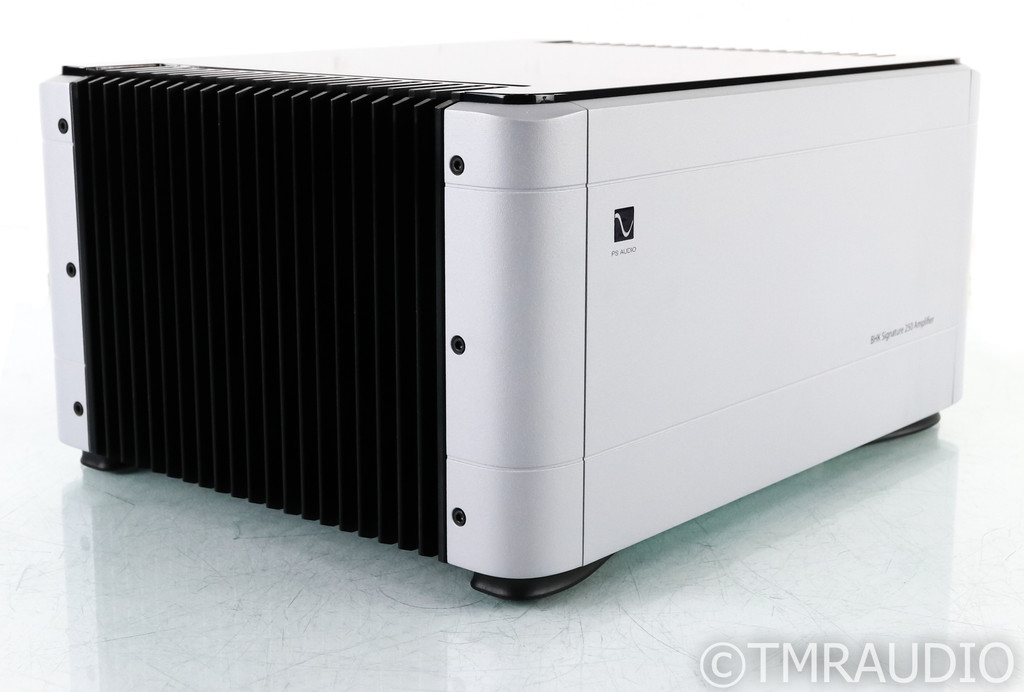 PS Audio BHK Signature 250 Stereo Power Amplifier; Tube Hybrid; Silver (Used)