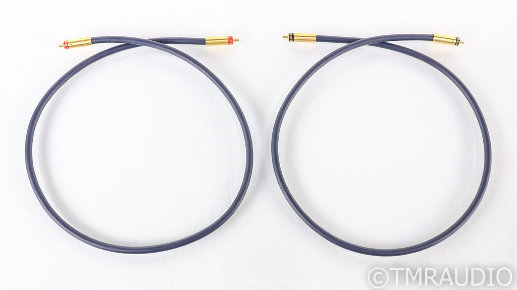 AudioQuest Quartz x 3 Hyperlitz RCA Cables; 1m Pair Interconnects