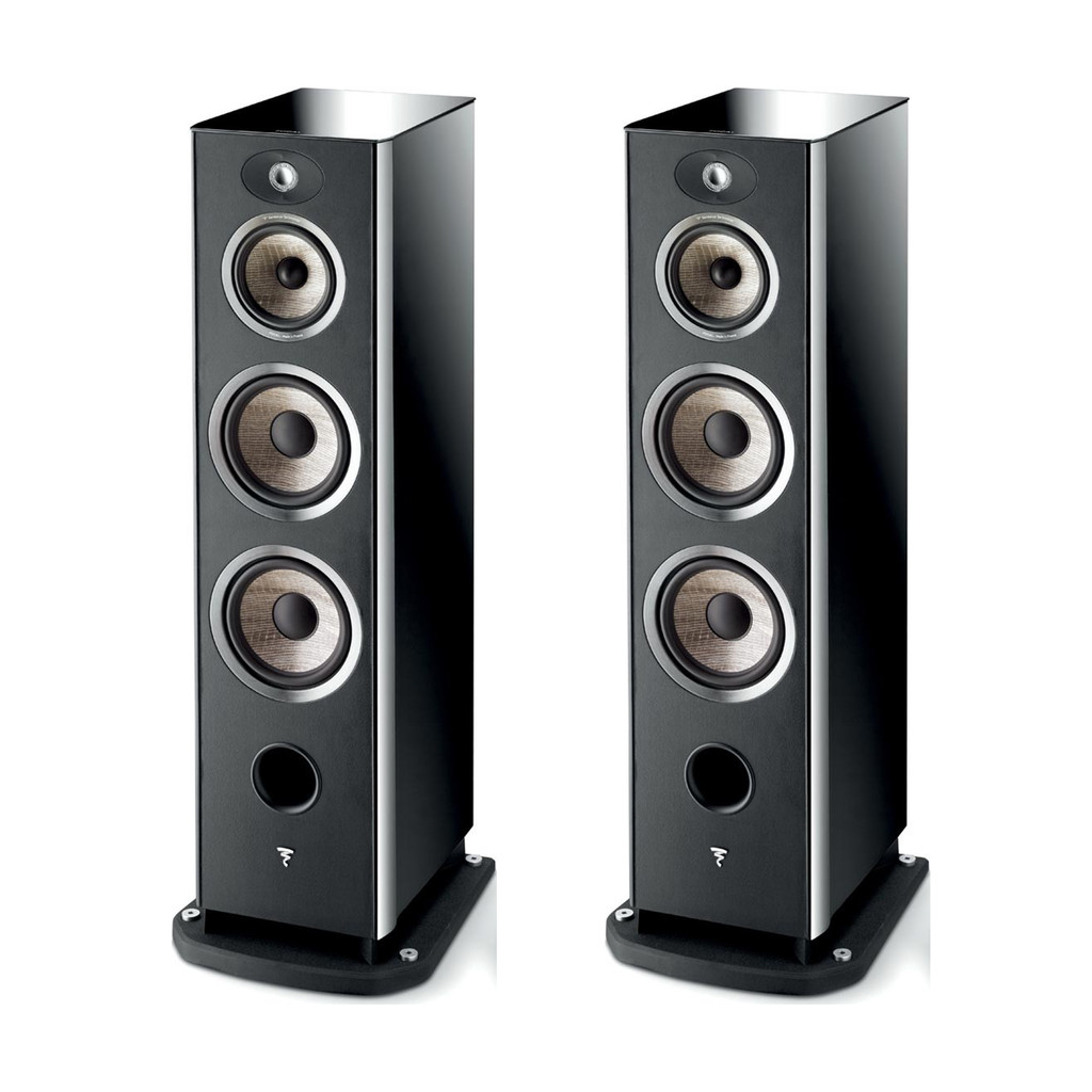 Focal Aria 948 Floorstanding Speakers; Black High Gloss Lacquer Pair (Open Box)