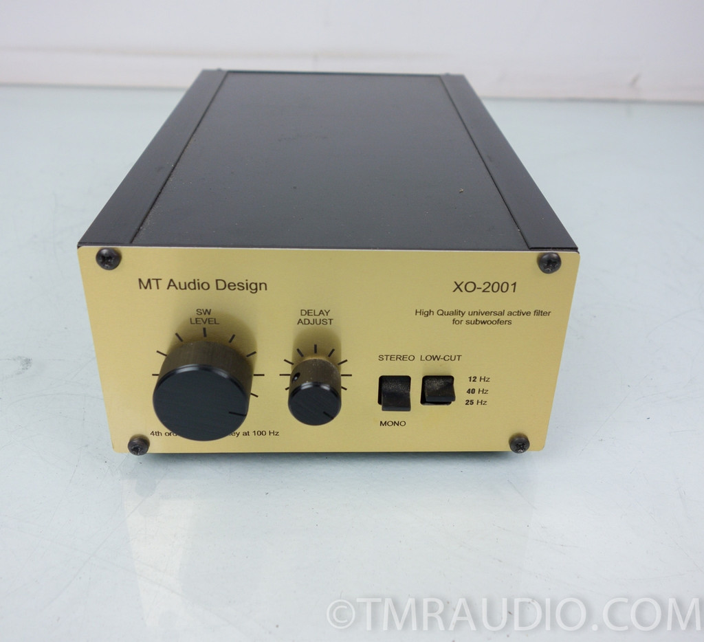 Gradient SW-63 Subwoofer & MT Audio Design XO-2001 X-over (4 Quad ESL63)