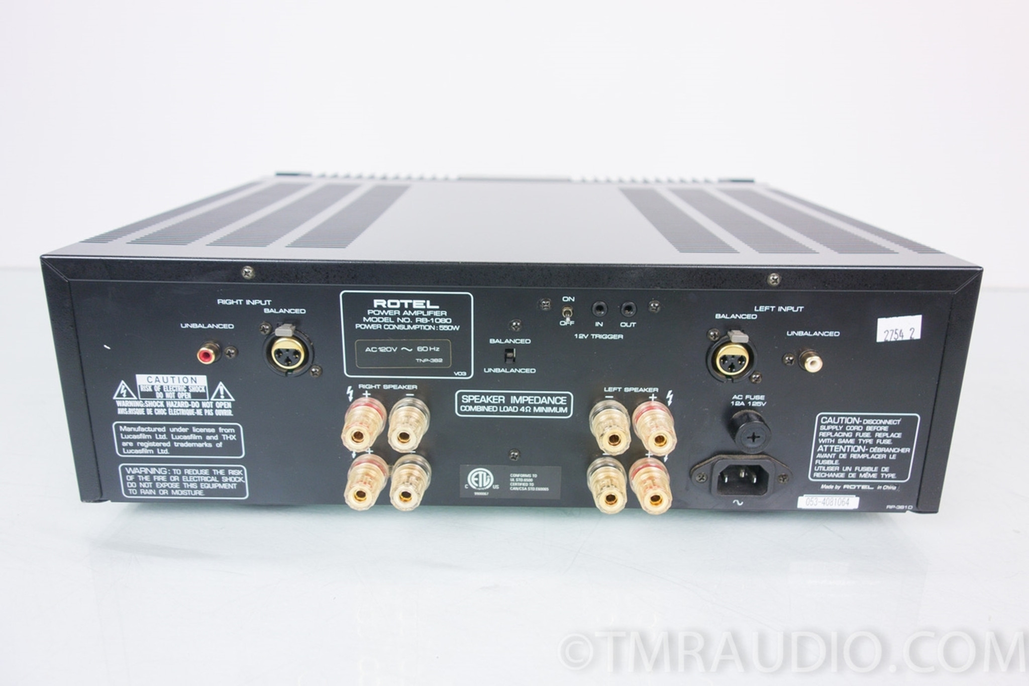Rotel RB-1080 THX 2 Channel Stereo Power Amp Amplifier