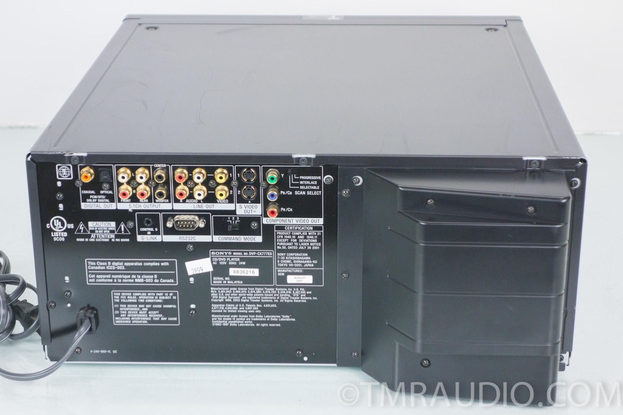 Sony DVP-CX777ES CD / DVD / SACD 400 Disc Changer / Player