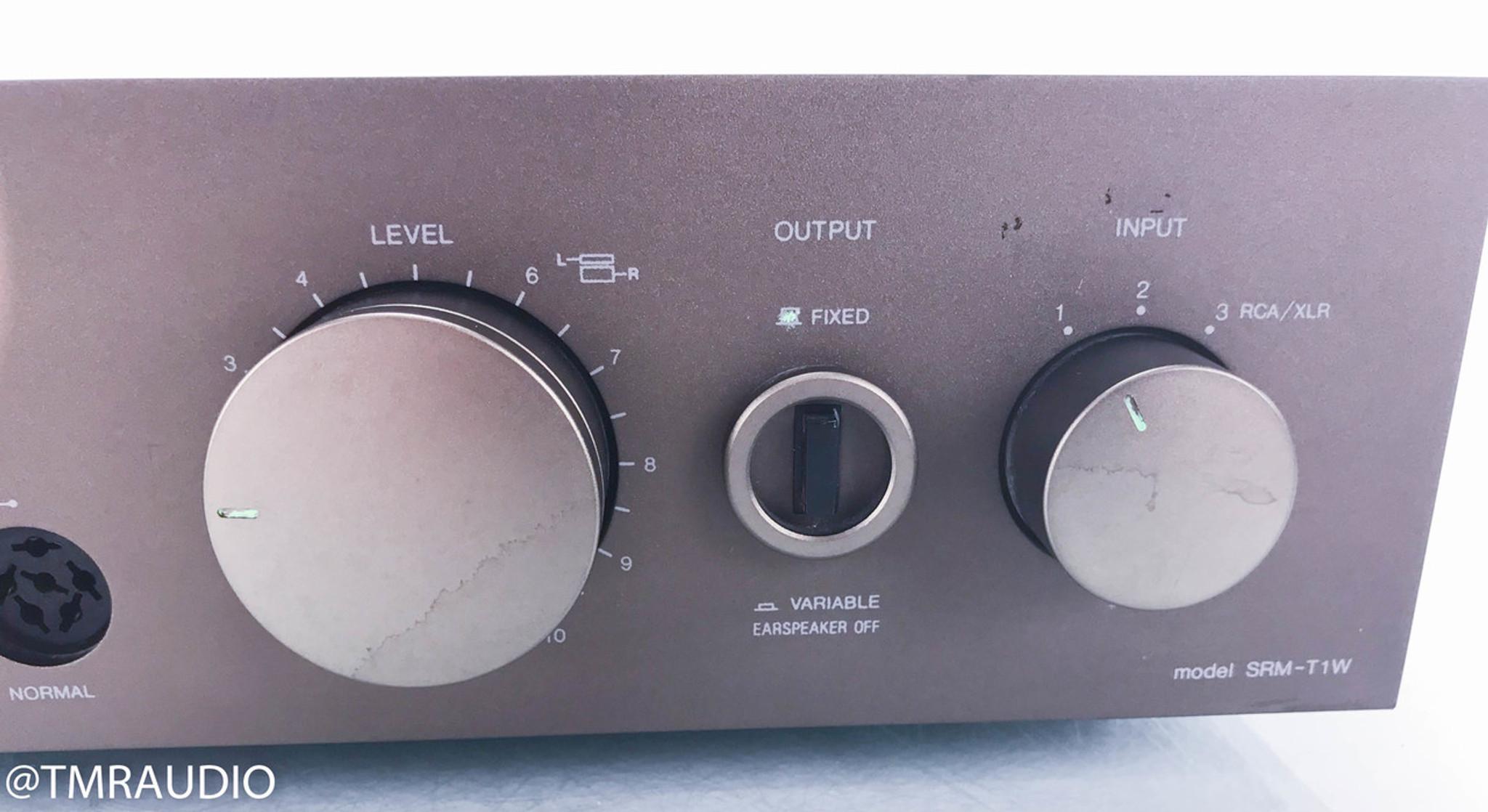 Stax SRM-T1W Electrostatic Headphone Amplifier (Broken RCA jacks - AS-IS)