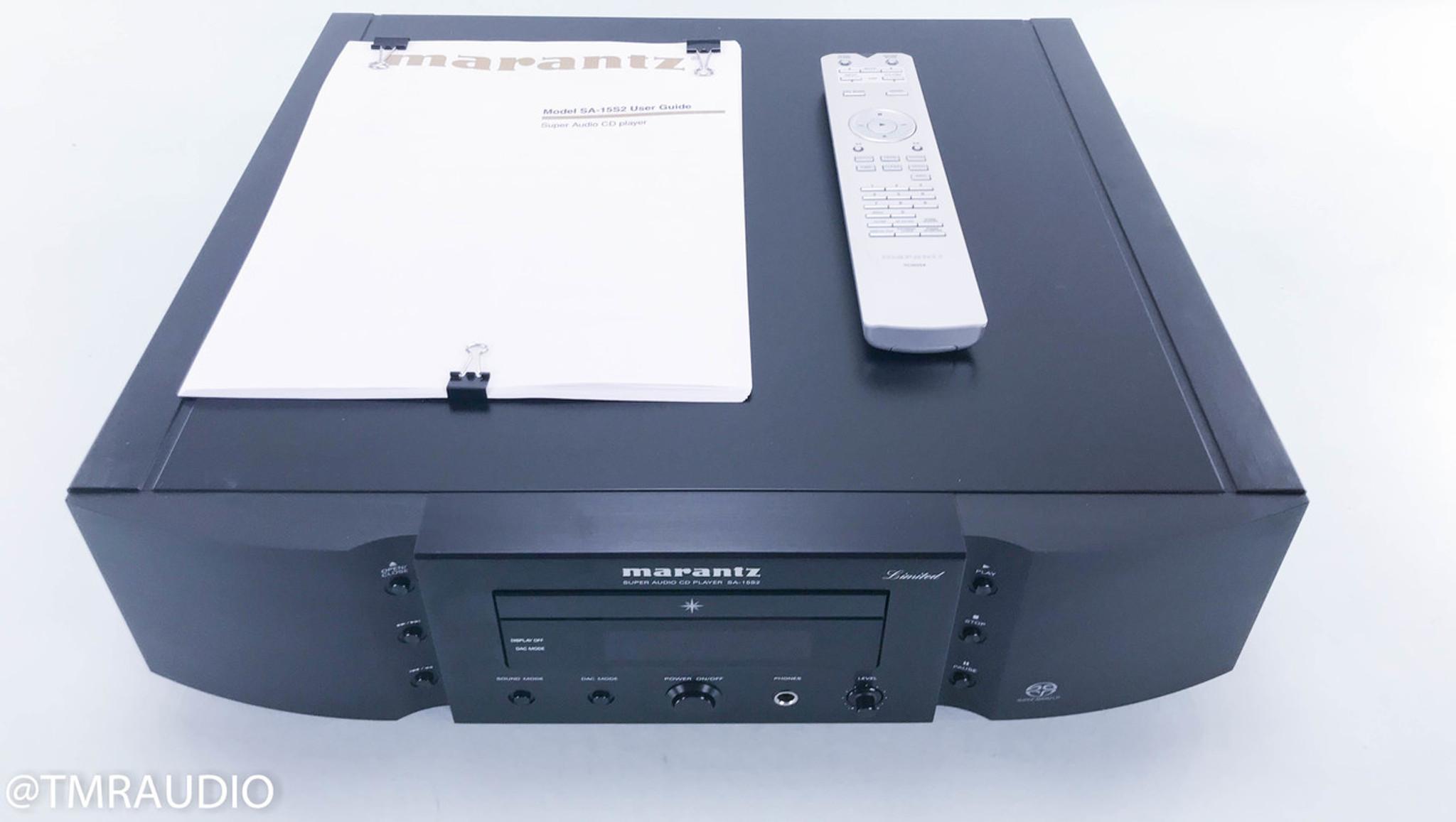 Marantz SA 112S12 Limited Edition SACD / CD Player; Remote