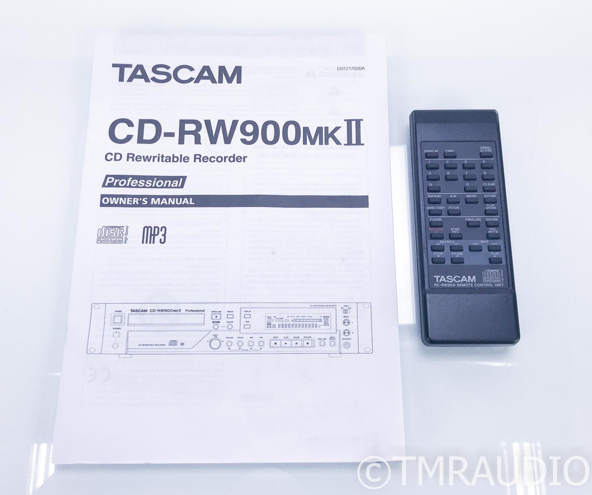 Tascam CD-RW900MKII CD Recorder / Player