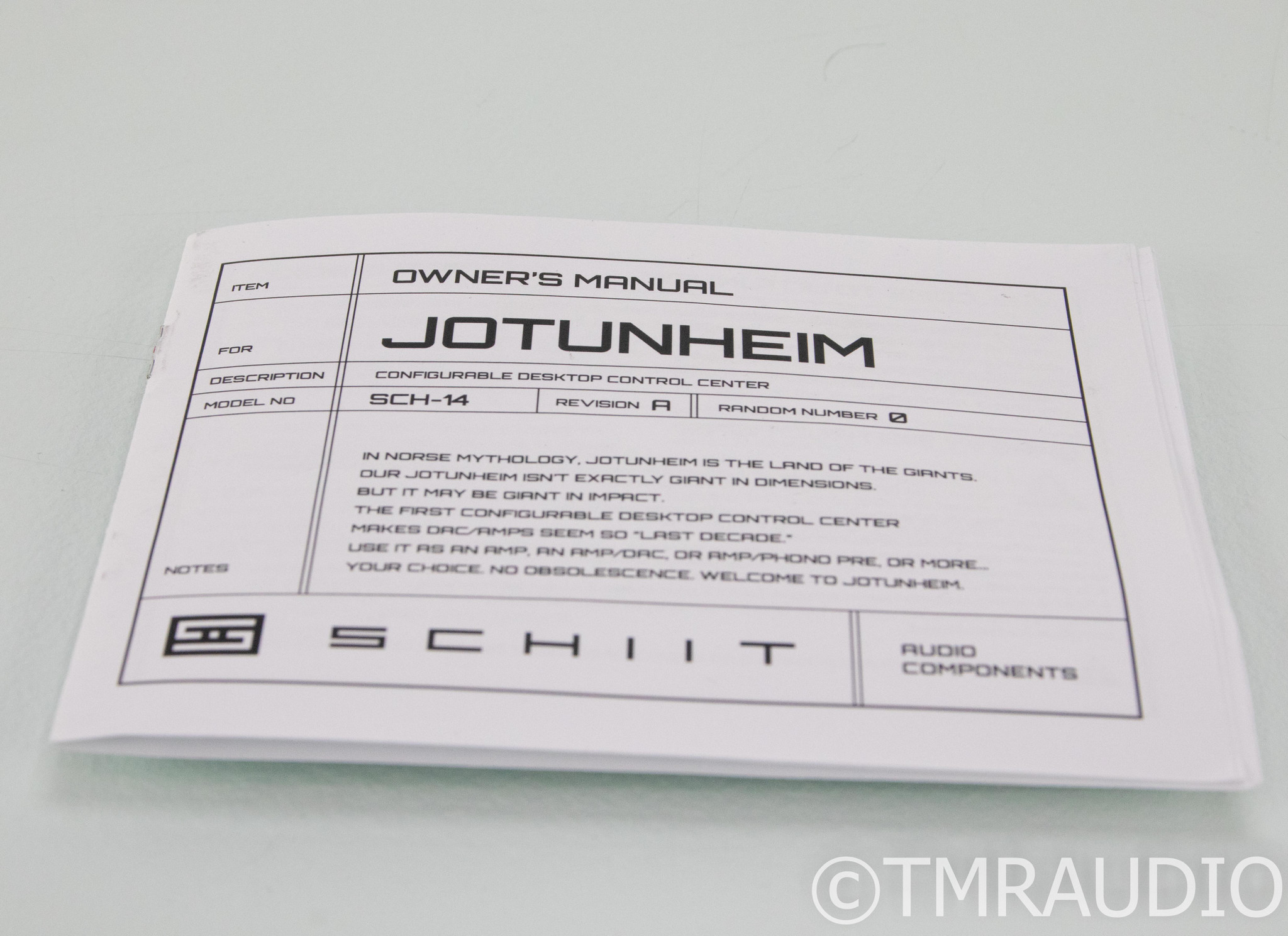 Schiit Jotunheim Headphone Amplifier