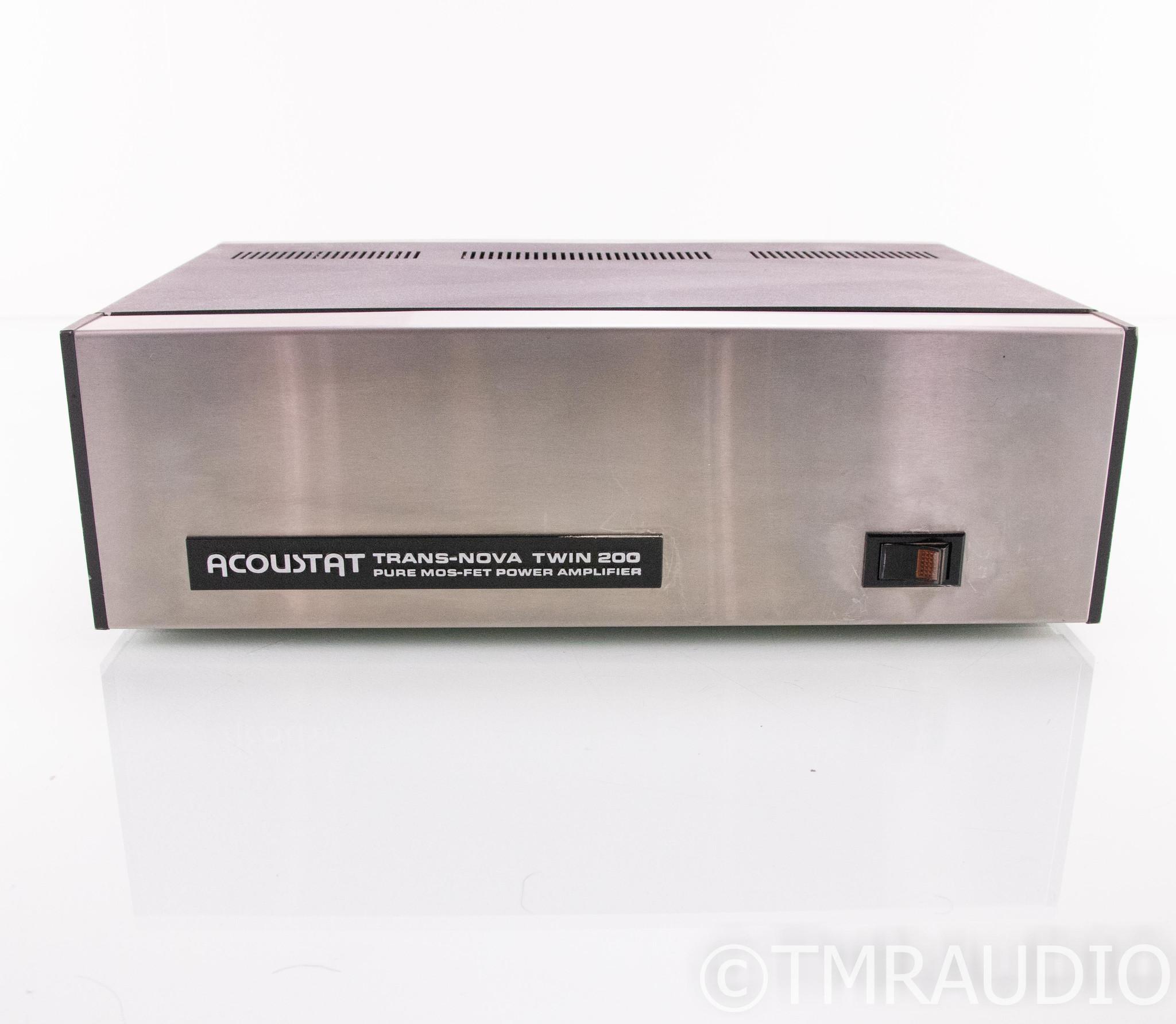 Acoustat Trans-Nova Twin 200 Stereo Power Amplifier