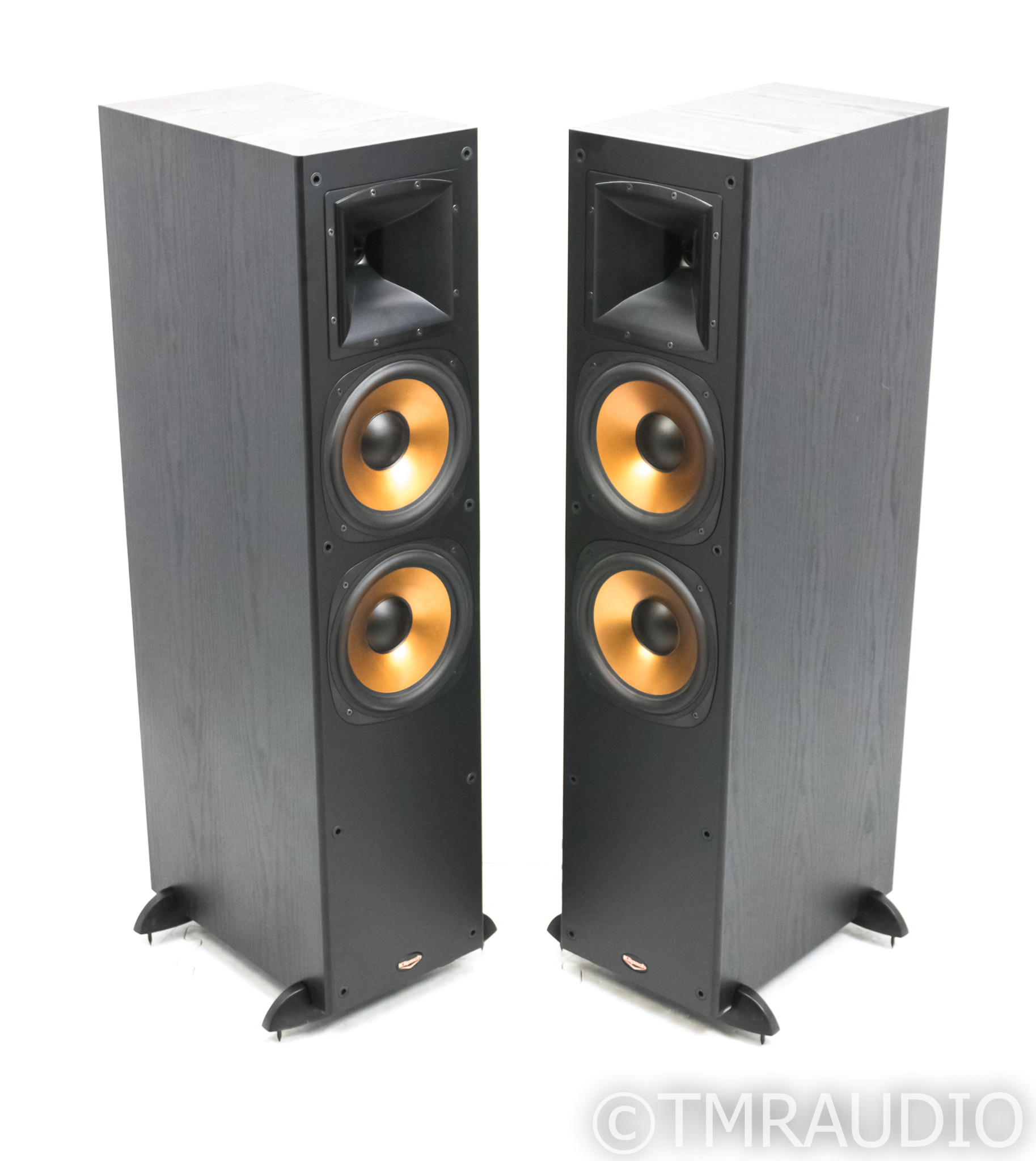 A pair of Klipsch  RF-3 II speakers Stands speaker feet