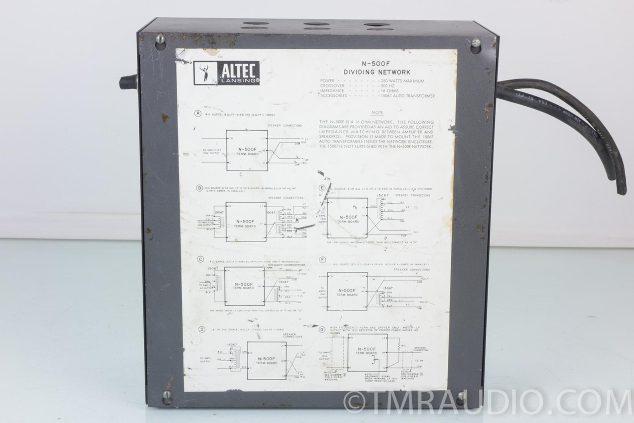 Altec N-500-F Crossover / Dividing Network From VOTT Speaker