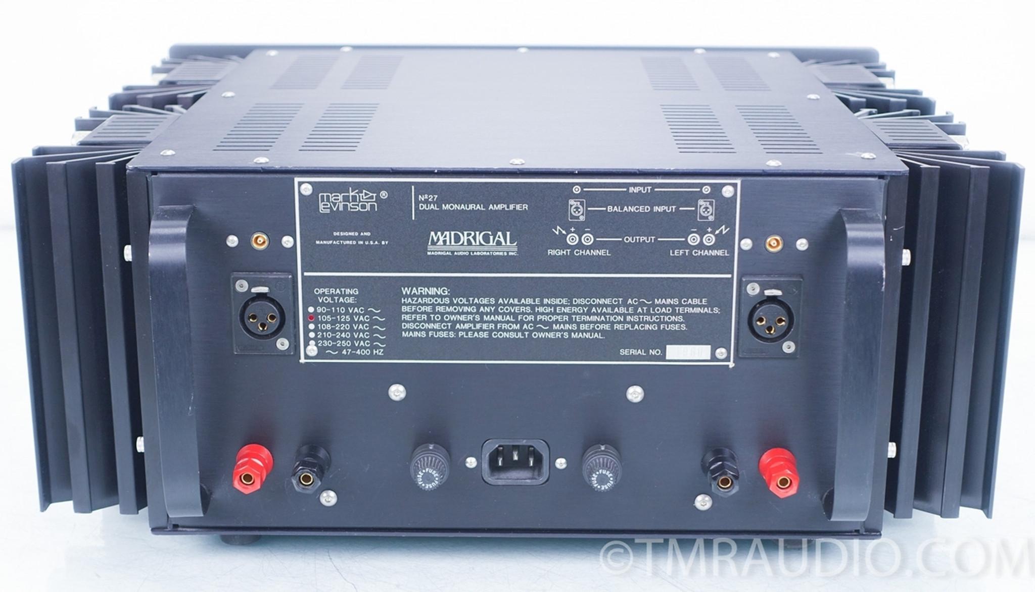 Mark Levinson No  27 Dual-Mono Power Amplifier