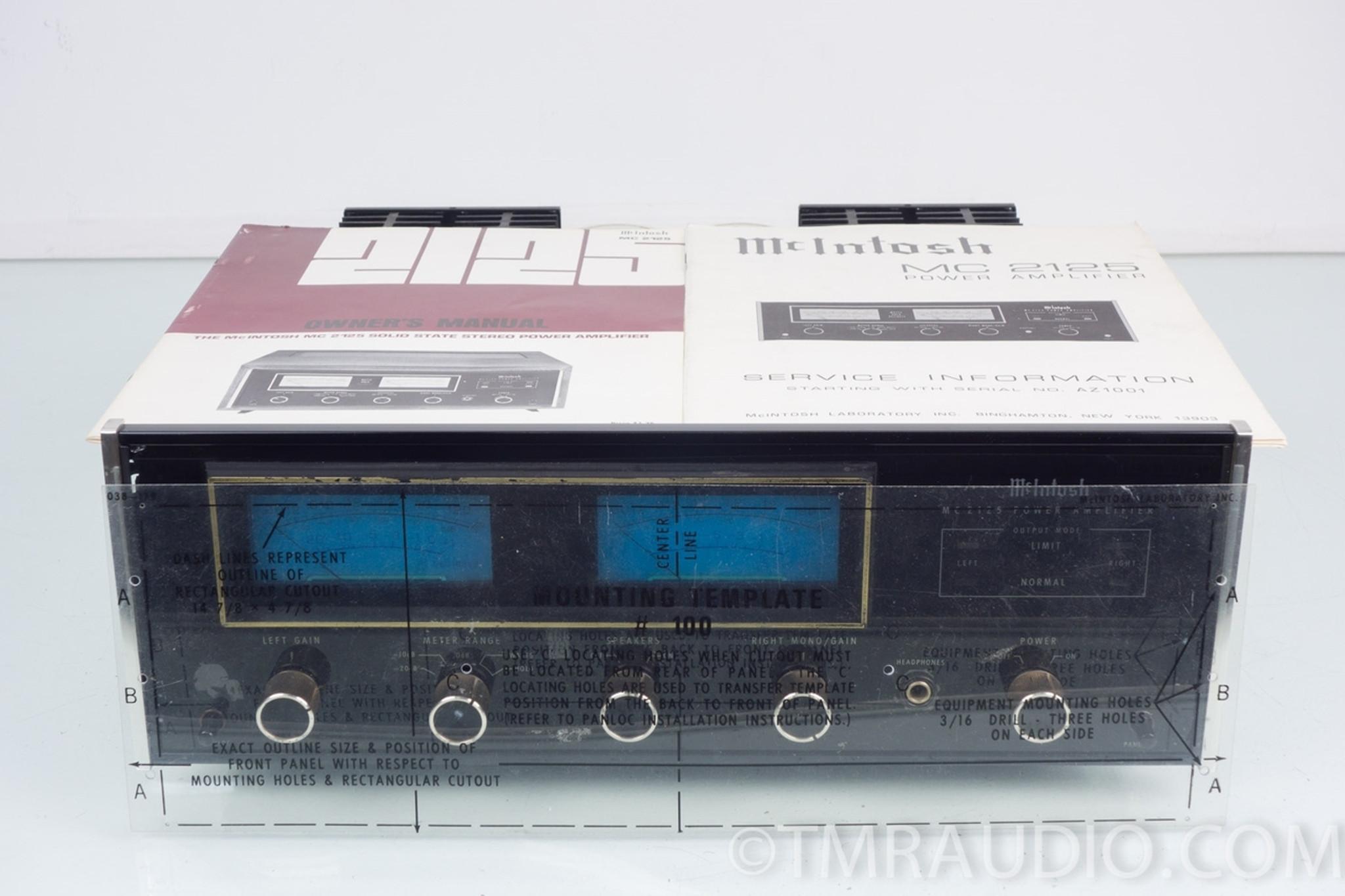 McIntosh MC 2125 Vintage Stereo Power Amplifier