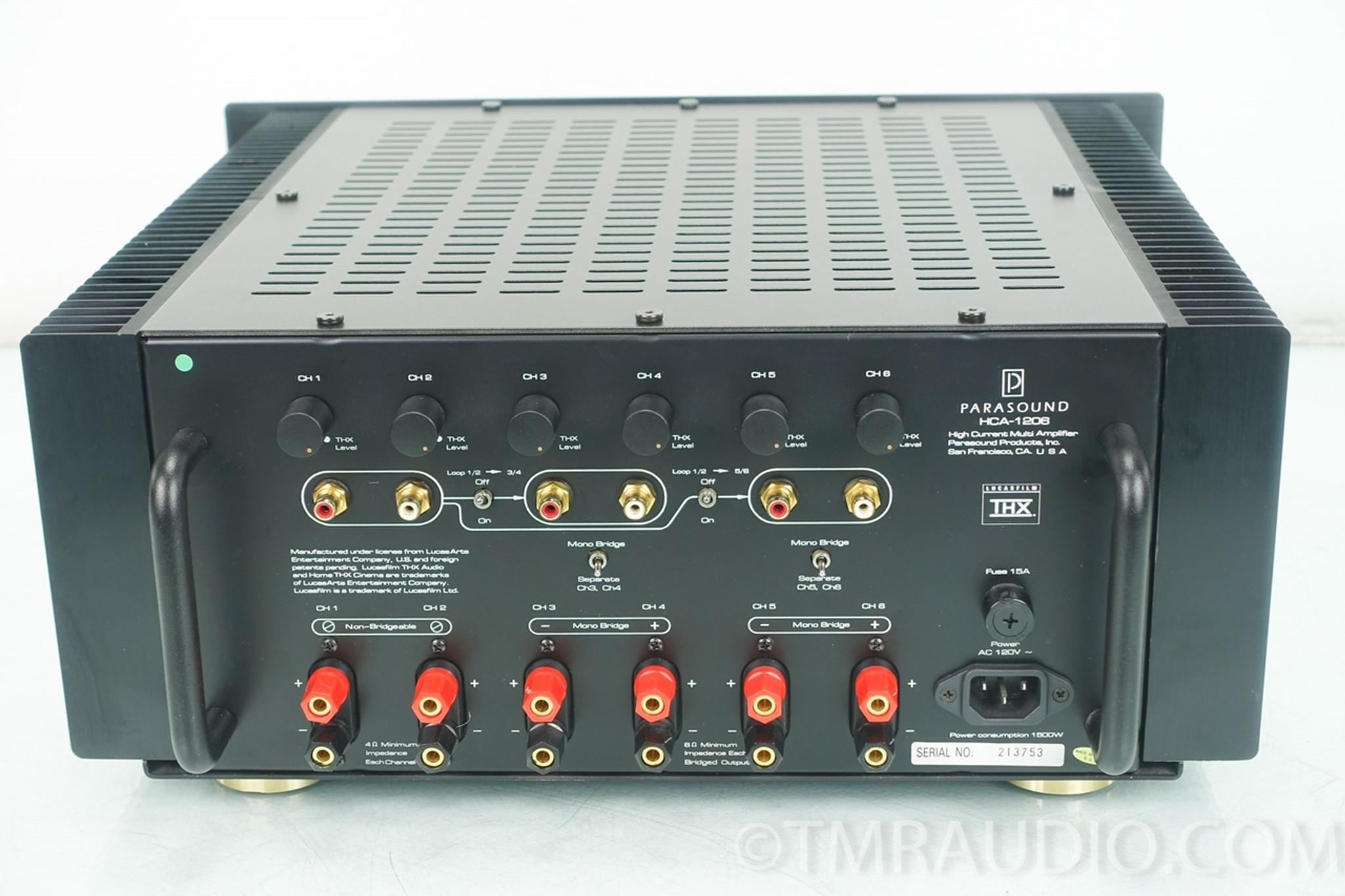 Parasound HCA-1206 6 Channel Power Amplifier in Factory Box