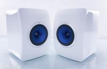 KEF LS50 Bookshelf Speakers; White Pair