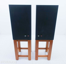 Viking Acoustics Briton Hybrid Studio Monitors; Cherry Pair; Stands; DC10Audio