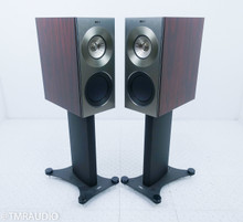 KEF Reference 1 Bookshelf Speakers; Gloss Rosewood Pair w/ Stands