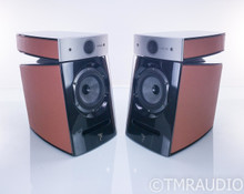 Focal Diablo Utopia III Bookshelf Speakers; Custom Orange Leather Pair; Warranty