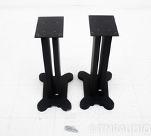 "23.5"" Speaker Stands; Matte Black Pair"