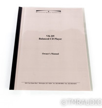 Balanced Audio Technology VK-D5 Tube CD / HDCD Player; VKD5 (No Remote)