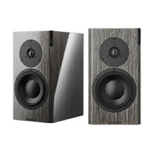 Dynaudio Focus 20 XD Powered Speakers; High Gloss Grey Oak Pair w/ Stands (New) (1/9)