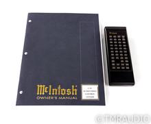 McIntosh C39 Home Theater Processor / Preamplifier; C-39; Remote; THX