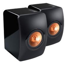 KEF LS50 Bookshelf Speakers; Black / Rose Gold Pair; LS-50 (New)