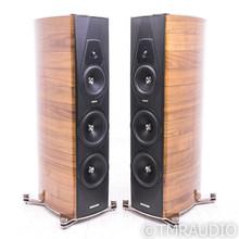 Sonus Faber Amati Futura Floorstanding Speakers; Walnut / Chrome Pair