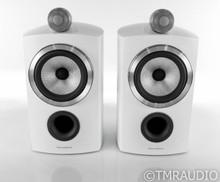 B&W 805 D3 Bookshelf Speakers; Satin White Pair