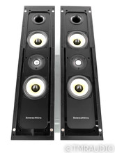 B&W FPM5 On-Wall / Bookshelf Speakers; FPM-5; Silver Pair w/ Stands
