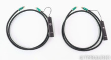 AudioQuest Columbia RCA Cables; 1.5m Pair Interconnects; 72v DBS