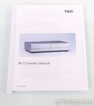 Pass Labs XP-17 MM / MC Phono Preamplifier; XP17; Silver
