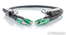AudioQuest Earth RCA Cables; 1m Pair Interconnects; 72v DBS (Open Box)