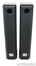 Peak Consult Princess V Signature Floorstanding Speakers; Black & Leather Pair