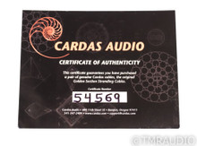 Cardas Golden Reference XLR Cables; 1m Pair Balanced Interconnects