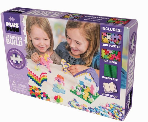 Learn to Build - Pastel, 400pcs (w/baseplate)