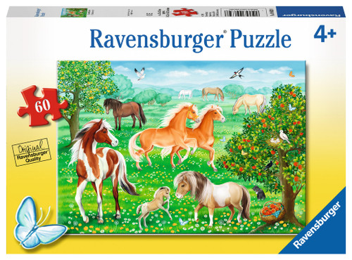 4+ 60pc Horse Meadow/Mustang Meadow 60pc    ***
