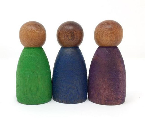 Nins, Wood Dark Cold Colour, 3 pcs