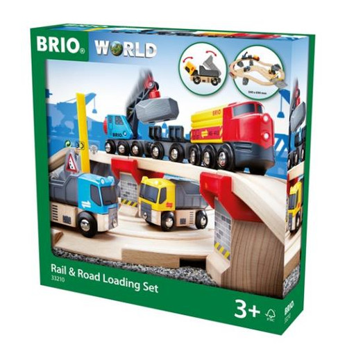 A busy day in the quarry means there is loads to load. This multi-vehicle toy train set is great fun for the little engineers who love playing with cranes, loading and unloading! For 3+