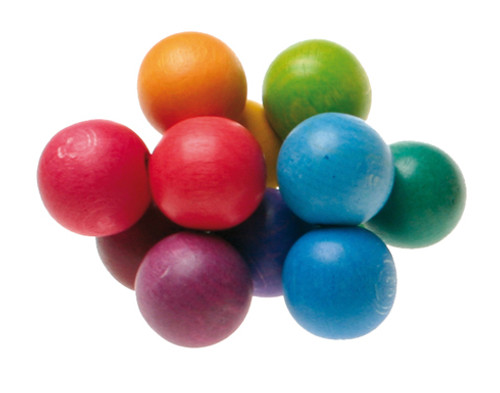 Wooden Beads Grasper Multi Coloured
