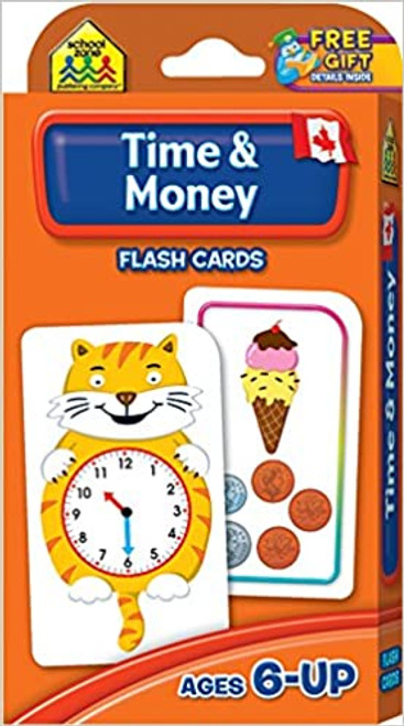 Canadian Time & Money Flash Cards