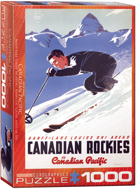 1000pc Banff Lake Louise Ski Areas